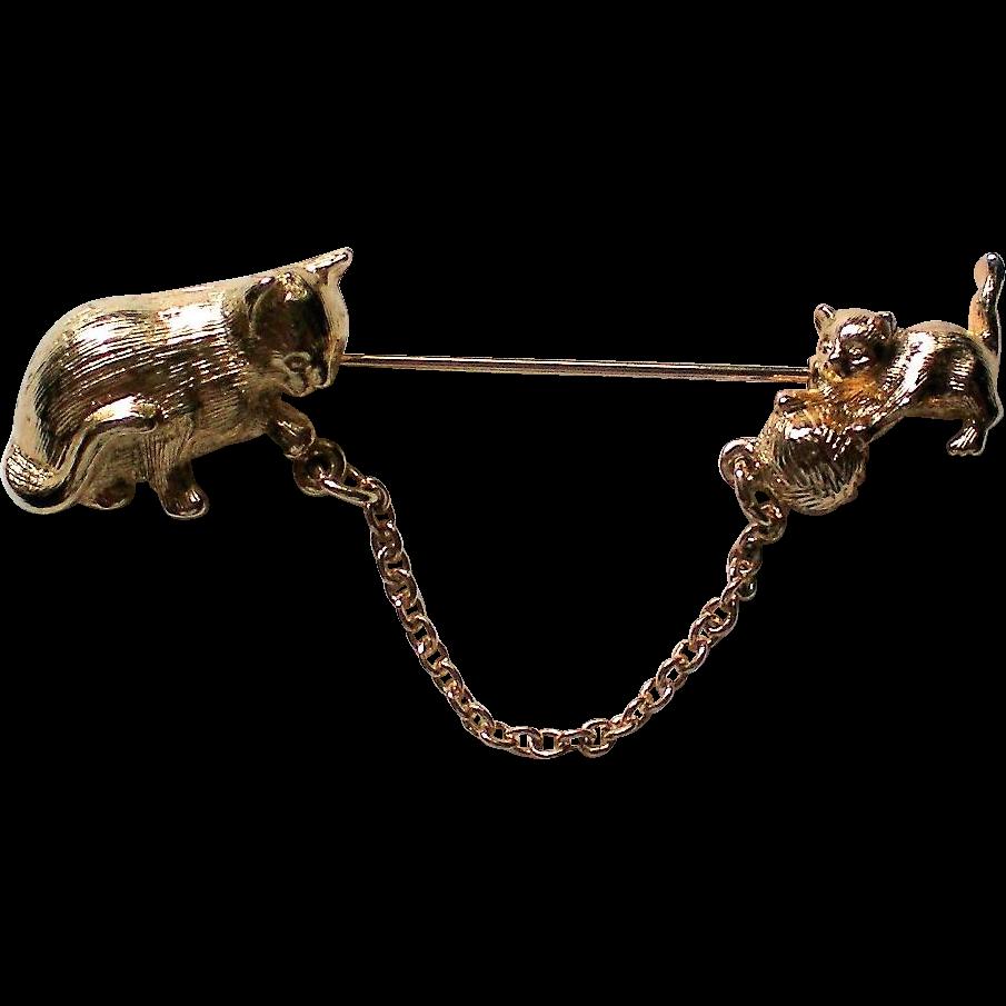 Avon Cat and Kitten Stick Pin