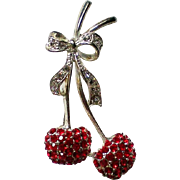 Ruby Red Cherries Pin for Slot Machine Enthusiasts