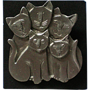 Cat Family Pin by MALI