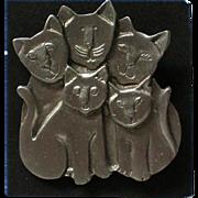 Cat Family Pin by MALI