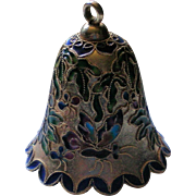 Cloisonné Bell with Butterfly Decoration