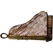 Grand Piano Charm with Opening Lid