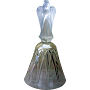Crystal Clear Bell with Frosted Glass Angel Topper