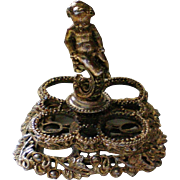 Cherub Lipstick Holder Ormolu Brass