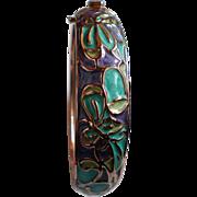 Thomas Kinkade Serenity Copper Hinged Bangle Bracelet