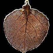 Colorado Gold Plated Aspen Leaf Pendant