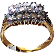 Three Row Sparkling CZ Wedding Band or Cocktail Ring