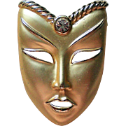 Mardi Gras Asian Boy Mask Pin