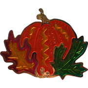 Metal Halloween / Thanksgiving / Fall Pumpkin Pin