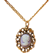 Petite Cameo Necklace in Original Box