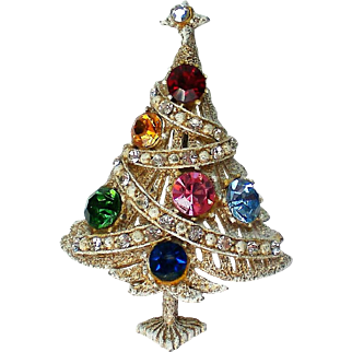 Vintage Hollycraft White Christmas Tree for the Holidays