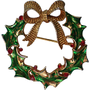 Holly Wreath Pin by MYLU for Christmas Holidays