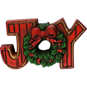 Hallmark Cards Holiday JOY Pin for Christmas / Hanukkah