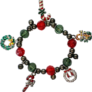 Christmas / Holiday / Hanukkah Charm Stretch Bracelet
