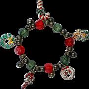 Christmas  Holiday Charm Stretch Bracelet