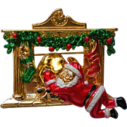 AJC Christmas Santa Pin
