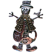 Winter Snowman Pin for the Holidays