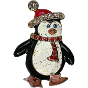 Happy Feet Penguin Pin for Winter Christmas Hanukkah Holdiays