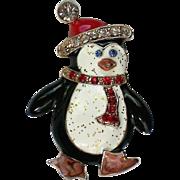 Happy Feet Penguin Pin for Winter Christmas Hanukkah Holdiays