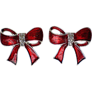 Petite Christmas Package Bow Pierced Earrings for the Holidays