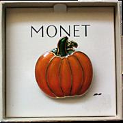 Monet Halloween Fall Pumpkin Pin