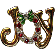 JOY Pin for Winter / Christmas / Hanukkah Holidays