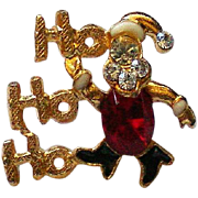 Ho Ho Ho Santa Tie Tack or Hat Pin for Christmas Holidays