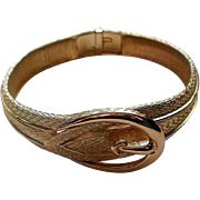 Avon Gold tone Buckle Clamper Bracelet