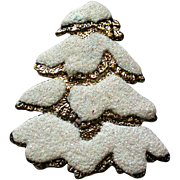 Frosted Christmas Tree Pin for the Holidays
