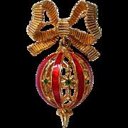 MYLU Design Dangling Christmas Tree Ornament Pin