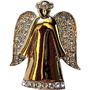Signed Monet Angel Pin for Christmas Holidays