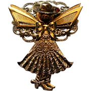Cowgirl Angel Pin for Christmas / Hanukkah Holidays