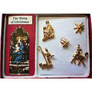 Story of Christmas Tie Tack Pin Set