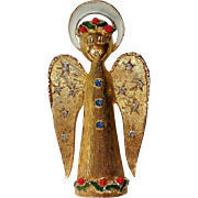 Signed ART Christmas Holiday Angel Pin