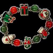 Metal Charm Beaded Bracelet for Christmas Holidays