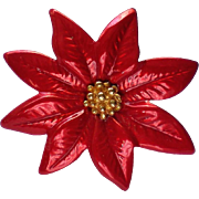 Poinsettia Hat or Tack Pin for the Christmas / Hanukkah Holidays