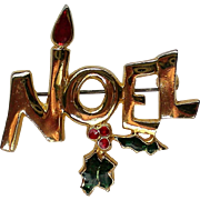 NOEL Pin for the Christmas / Hanukkah / Kwanzaa Holidays