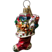 Christopher Radko Christmas Stocking Christmas Holiday Ornament