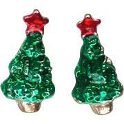 Petite Christmas Tree Pierced Earrings