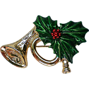 Gerry's Joyous Horn Pin for Christmas  Holidays