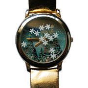Winter Scene Quartz Watch for Christmas Holidays