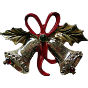 Joyous Bells Christmas Pin