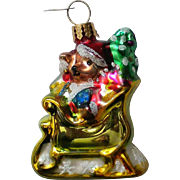 Christopher Radko Teddy Bear Christmas Holiday Ornament