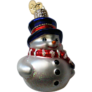 Old World Christmas OWC Snowman Ornament