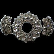 Austrian Crystal Brooch with Clip Earrings