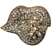 Gorgeous Free Form Multi-Layered Brooch marked SA