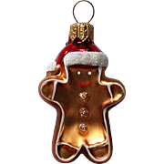 Vintage Mercury Class Miniature Ginger Bread Man Christmas Tree Ornament