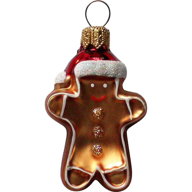 Vintage Mercury Class Miniature Ginger Bread Man Christmas Tree Ornament