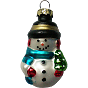 Vintage Mercury Class Miniature Snowman Christmas Tree Ornament