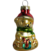 Vintage Mercury Class Miniature Teddy Bear Christmas Tree Ornament